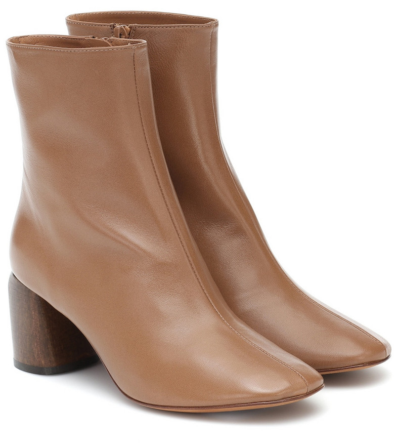 LOQ Georgia leather ankle boots in brown