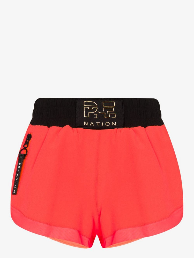 P.E Nation Rebuild running performance shorts in pink