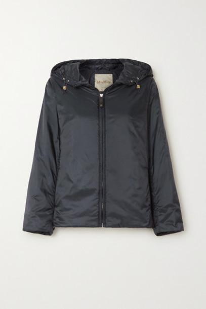 Max Mara - Hooded Padded Shell Jacket - Navy