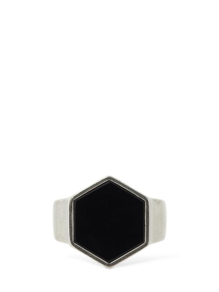 ISABEL MARANT Golden Mother Hexagonal Ring in black