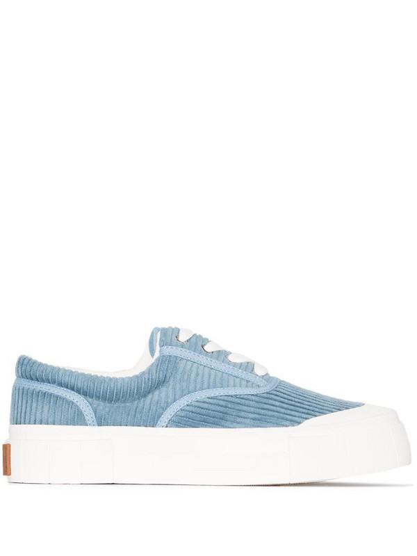 Good News Opal corduroy low-top sneakers in blue
