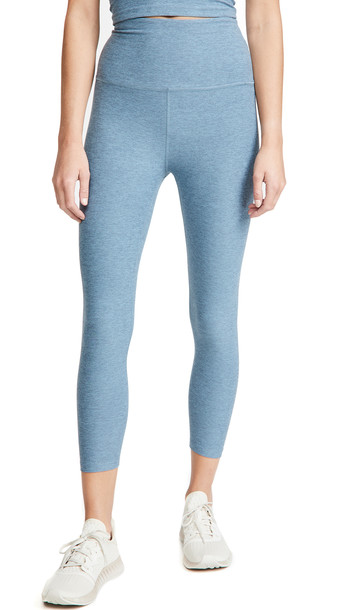Beyond Yoga High Waist Capri Leggings in blue