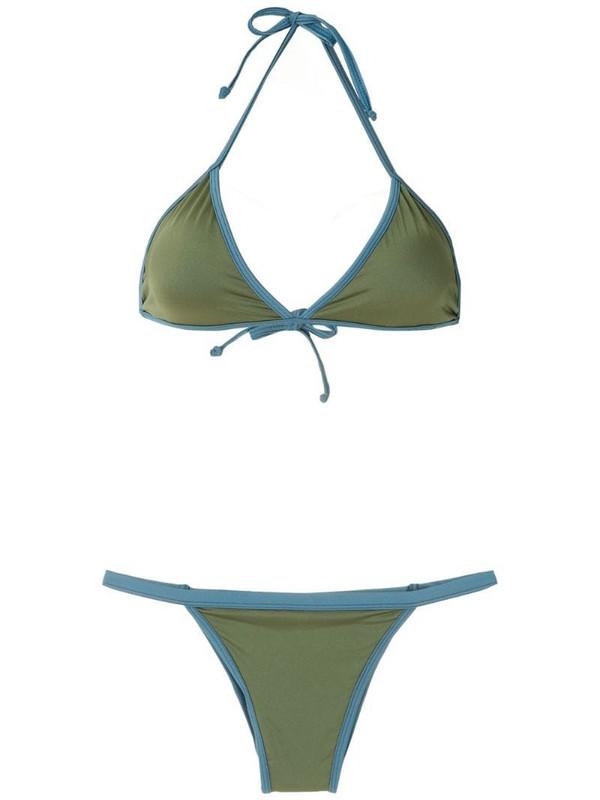 ESC Bicolo triangle bikini set in green