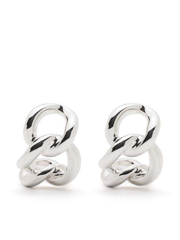 Isabel Lennse chainlink earrings in silver