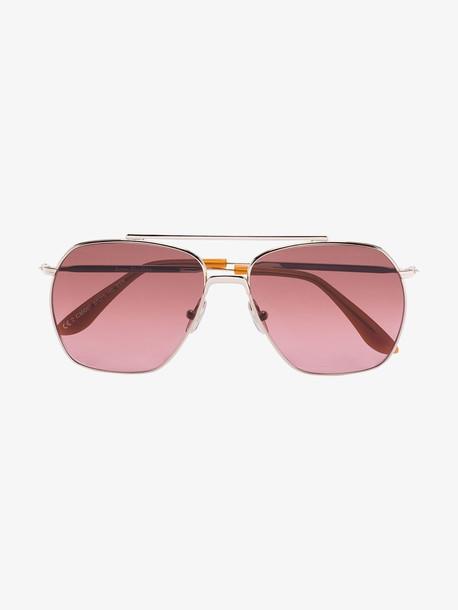 Acne Studios gold tone Anteom aviator sunglasses