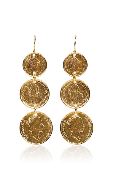 Ben-Amun Gold-Plated Coin Earrings