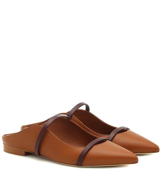 Malone Souliers Maureen leather slippers in brown