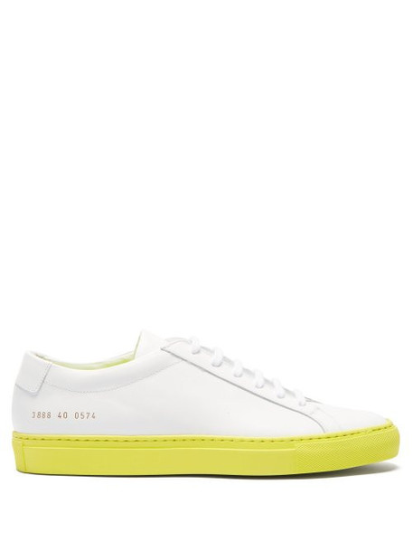 Common Projects - Achilles Low Top Leather Trainers - Womens - Yellow White