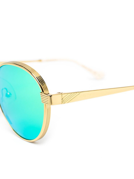 Gucci Eyewear mirrored round-frame sunglasses in green