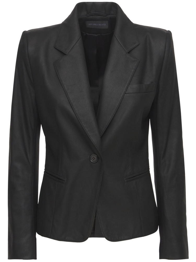 ANN DEMEULEMEESTER Angelina Leather Jacket in black