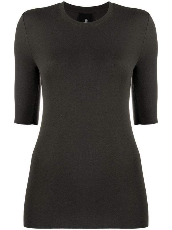 Thom Krom round neck knitted top in green
