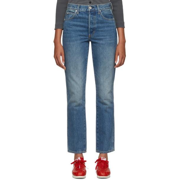 Amo Blue Stella High-Rise Slim Straight Jeans