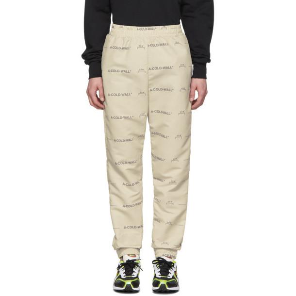 A-Cold-Wall* Beige Basic Logo Lounge Pants
