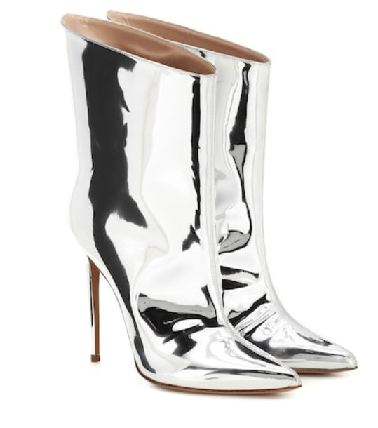 Alexandre Vauthier Alex Low metallic ankle boots in silver
