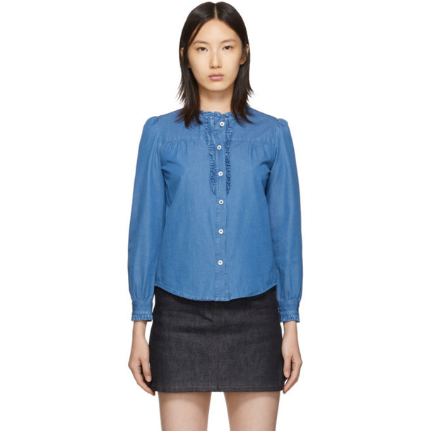 A.P.C. A.P.C. Indigo Zola Shirt