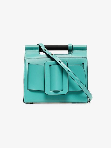 Boyy green romeo leather shoulder bag