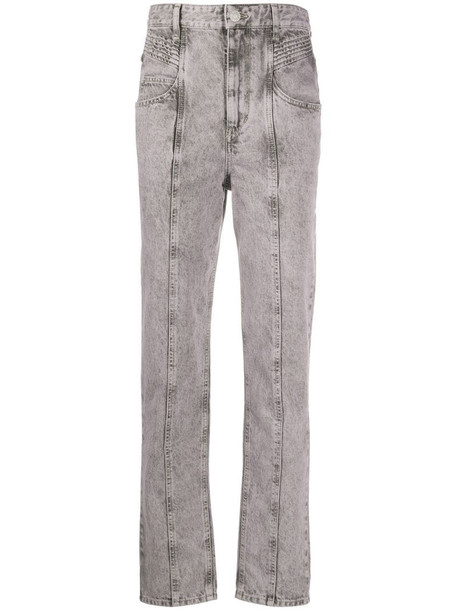 Isabel Marant Étoile Henoya tapered jeans in grey