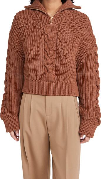 Nanushka Eria Sweater in brown