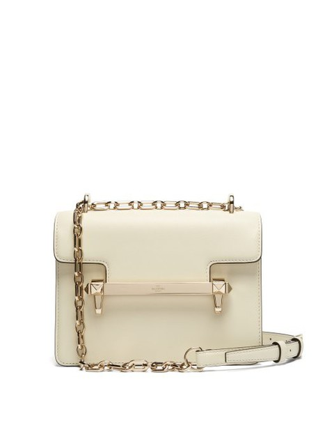 Valentino - Uptown Small Leather Cross Body Bag - Womens - Ivory