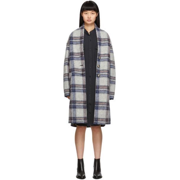 Isabel Marant Etoile Grey Check Gabriel Coat