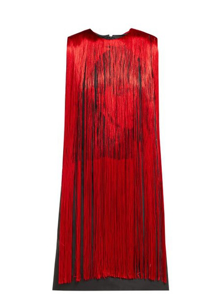 Calvin Klein 205w39nyc - X Andy Warhol Stephen Sprouse Fringed Dress - Womens - Red Multi