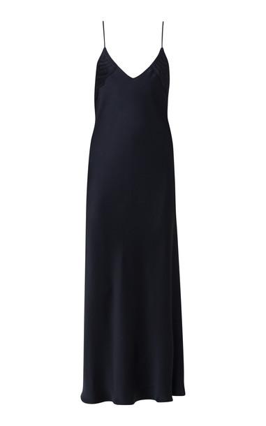Dorothee Schumacher Seductive Shimmer Satin Maxi Dress in black