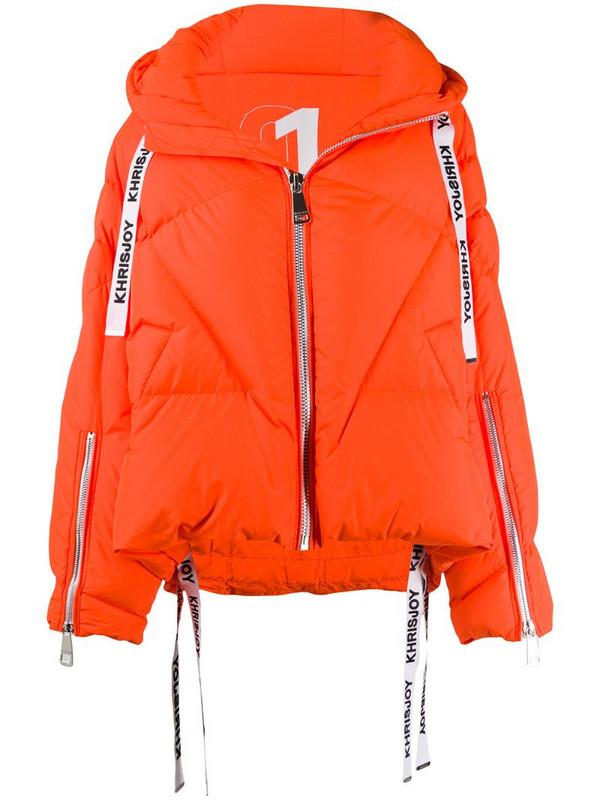 Khrisjoy hooded padded jacket in orange