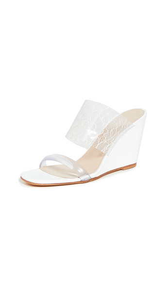 Maryam Nassir Zadeh Olympia Wedge Sandals in white