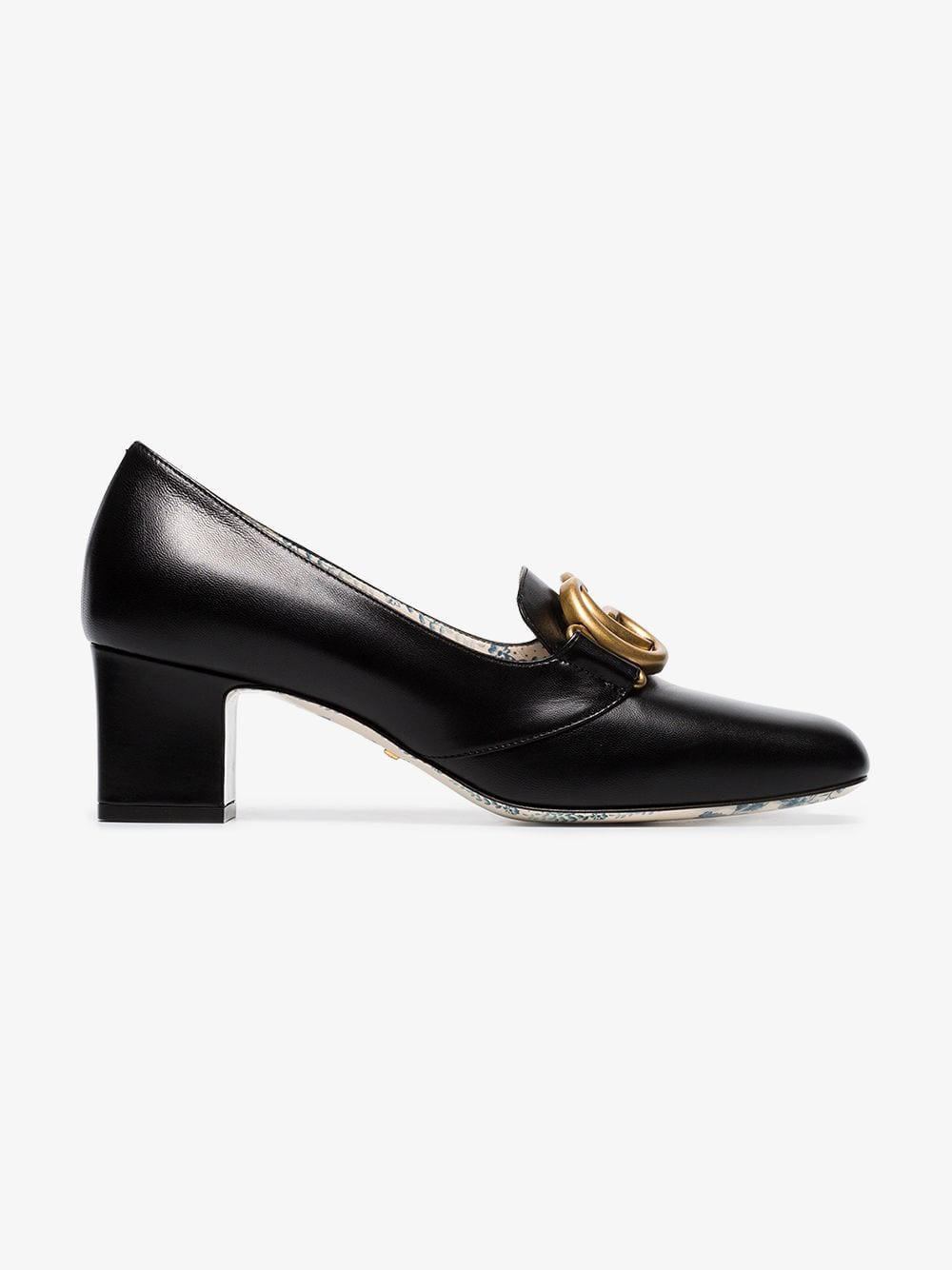 Gucci Double G decorated mid-heel pumps in black