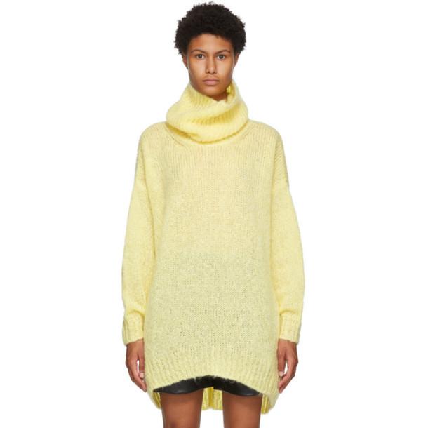 Isabel Marant Yellow Mohair and Wool Eva Turtleneck