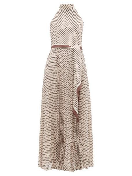 Zimmermann - Sunray Polka Dot Crepe Midi Dress - Womens - Cream Print