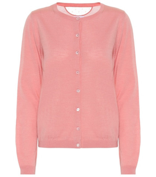 REDValentino Wool and silk cardigan in pink