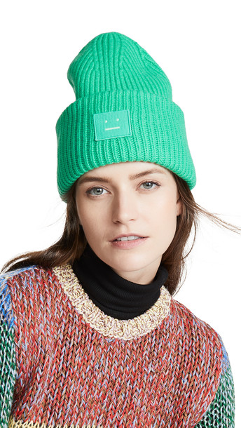 Acne Studios Pansy N Face Hat in green