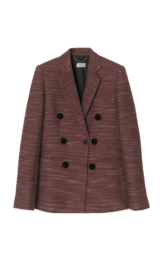 By Malene Birger Dorema Double-Breasted Blazer in print