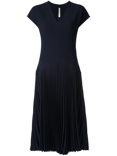 Dion Lee Annex pleat dress in blue