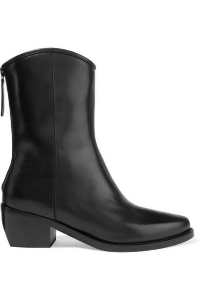 LEGRES - 03 Leather Ankle Boots - Black