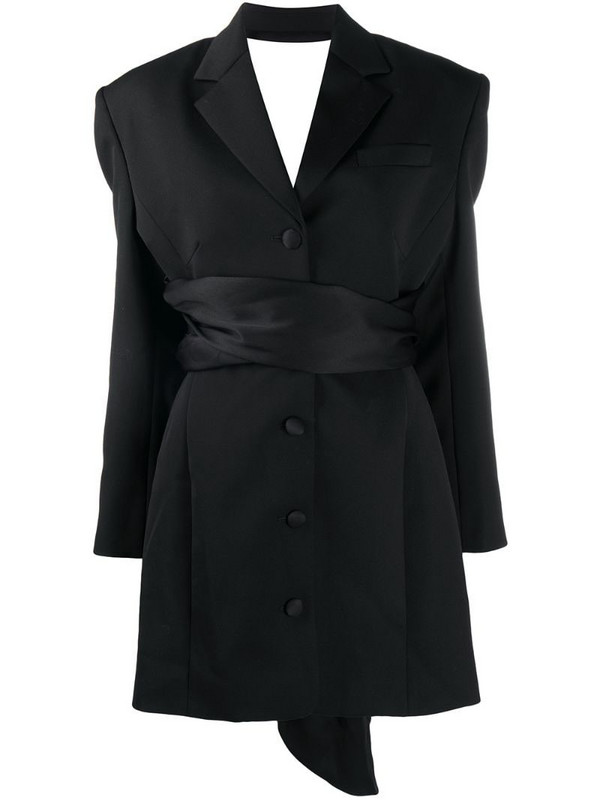 Magda Butrym open-back blazer dress in black