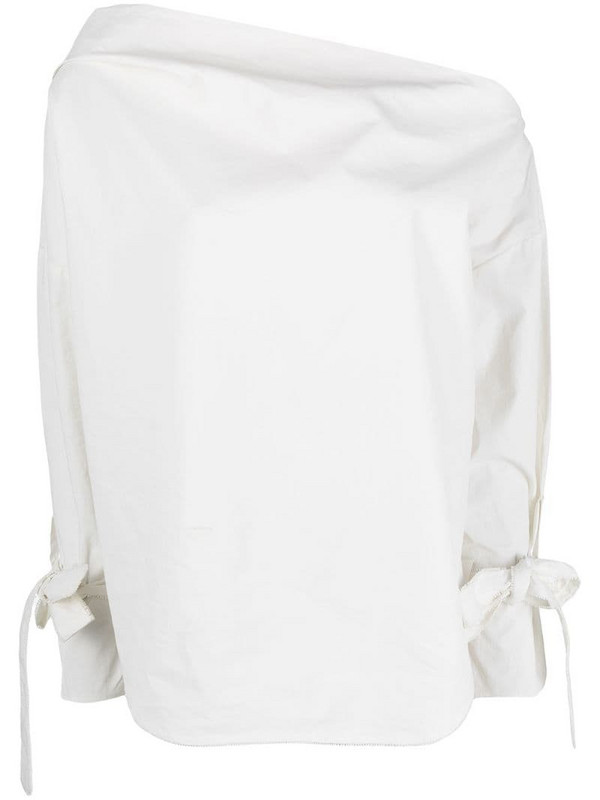 Aeron off-shoulder cotton blouse in white