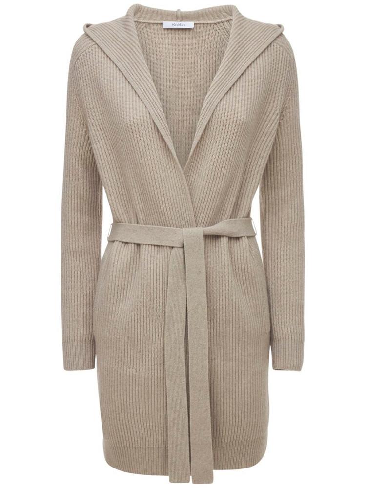 MAX MARA Wool & Cashmere Knit Long Cardigan
