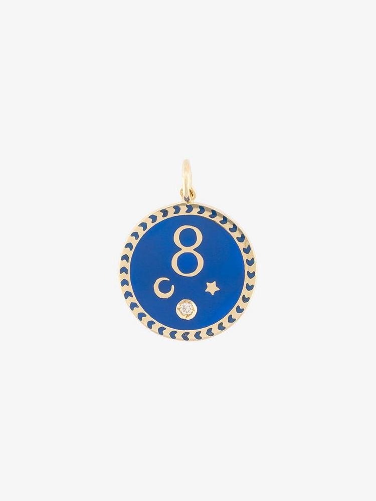 Foundrae karma medallion pendant in metallic