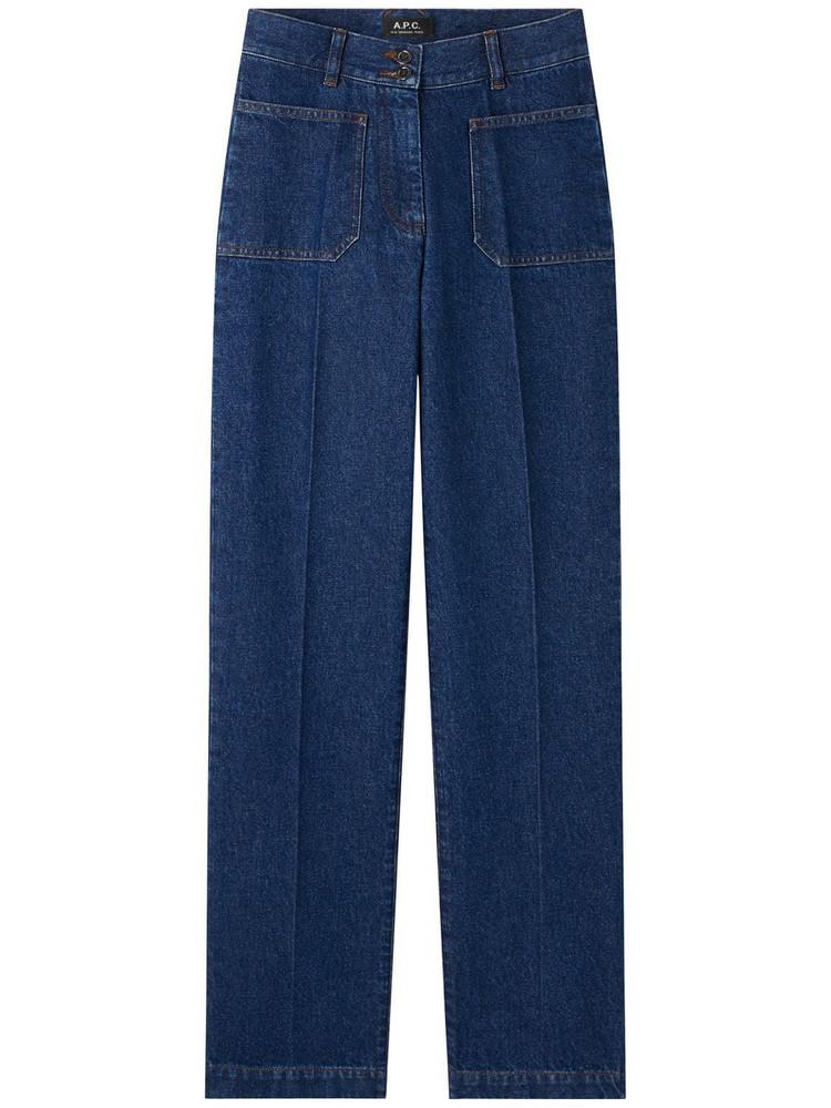 A.P.C. Jean Davi Cotton Denim Vintage Jeans in blue