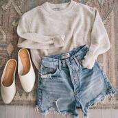 prosecco and plaid,blogger,jewels,shorts,t-shirt,shoes,jacket,sweater