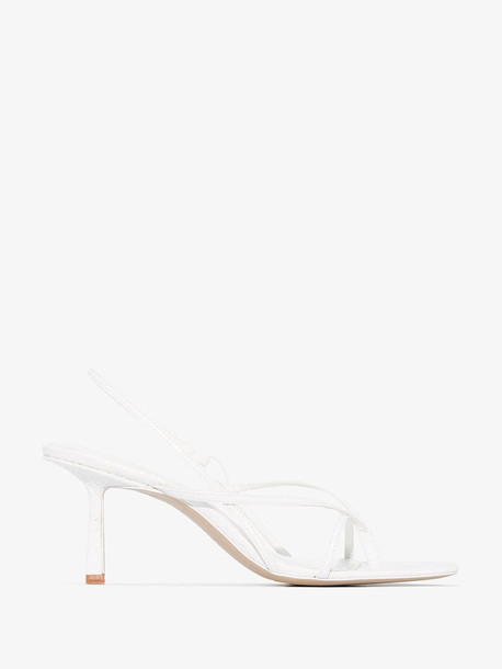 Studio Amelia white 2.4 croc effect sandals