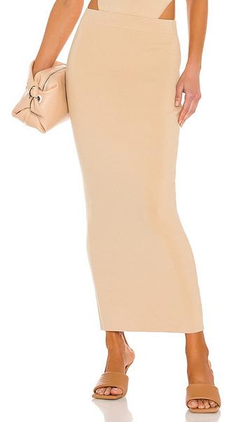 Ronny Kobo Hadwin Skirt in Nude in khaki
