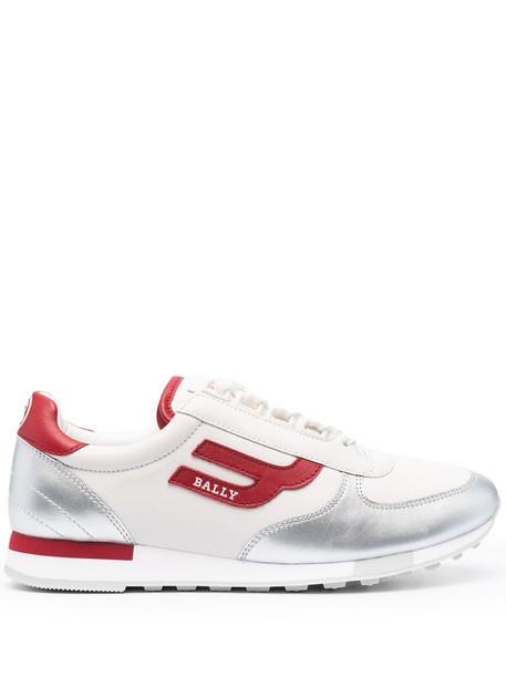 Bally Gavinia panelled low-top sneakers in silver