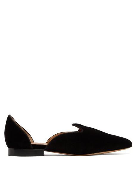Le Monde Beryl - D'orsay Velvet Loafers - Womens - Black