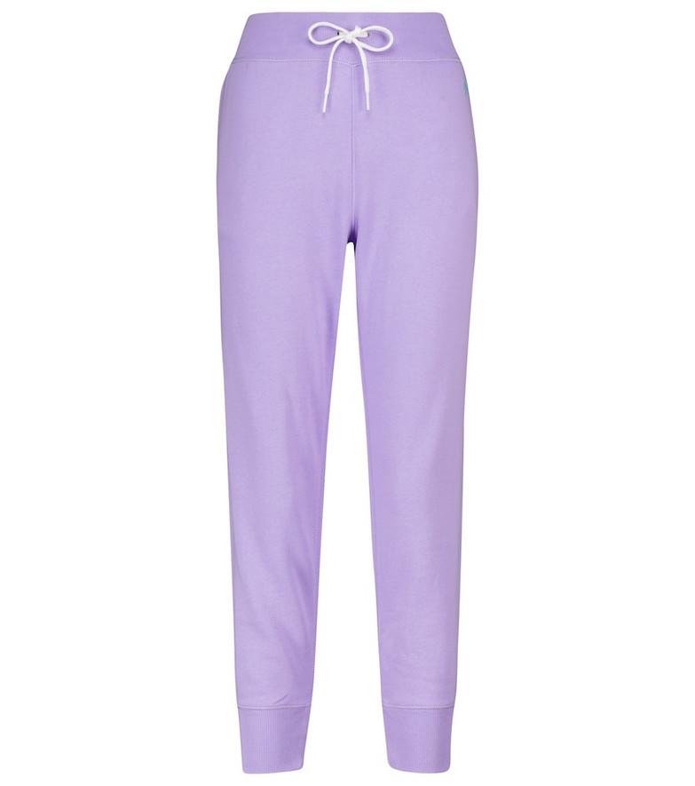 Polo Ralph Lauren Cotton-blend jersey sweatpants in purple