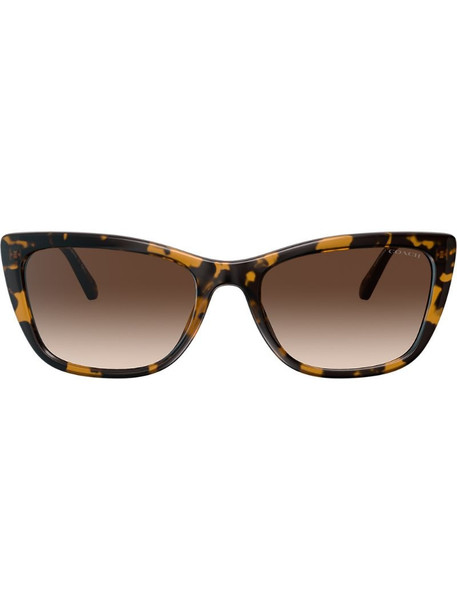 Coach logo chain sunglasses in brown
