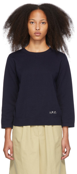 A.P.C. A.P.C. Navy Kourtney Sweater