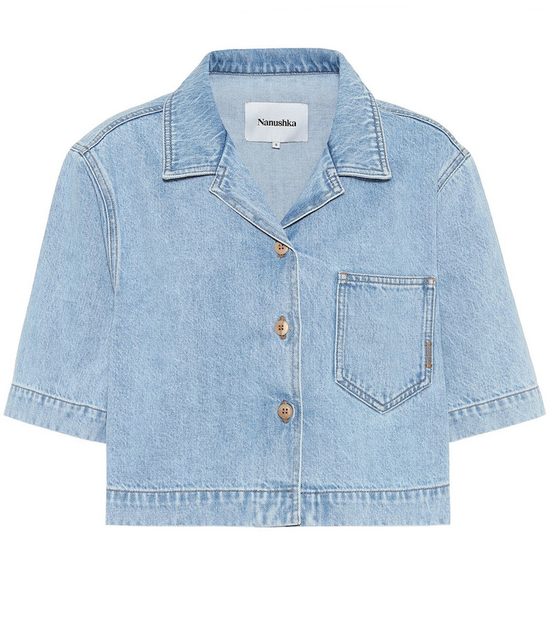 Nanushka Denim shirt in blue